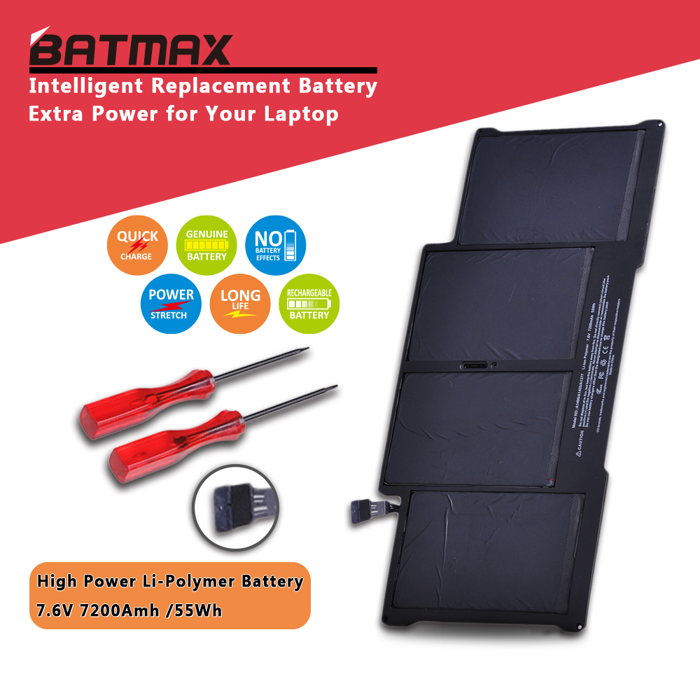 7.3V 50wh Laptop A1405 Battery for Apple Macbook Air 13 inch A1405 A1377 A1369 Late 2010 Mid 2011 2013 Early 2014 2015 image