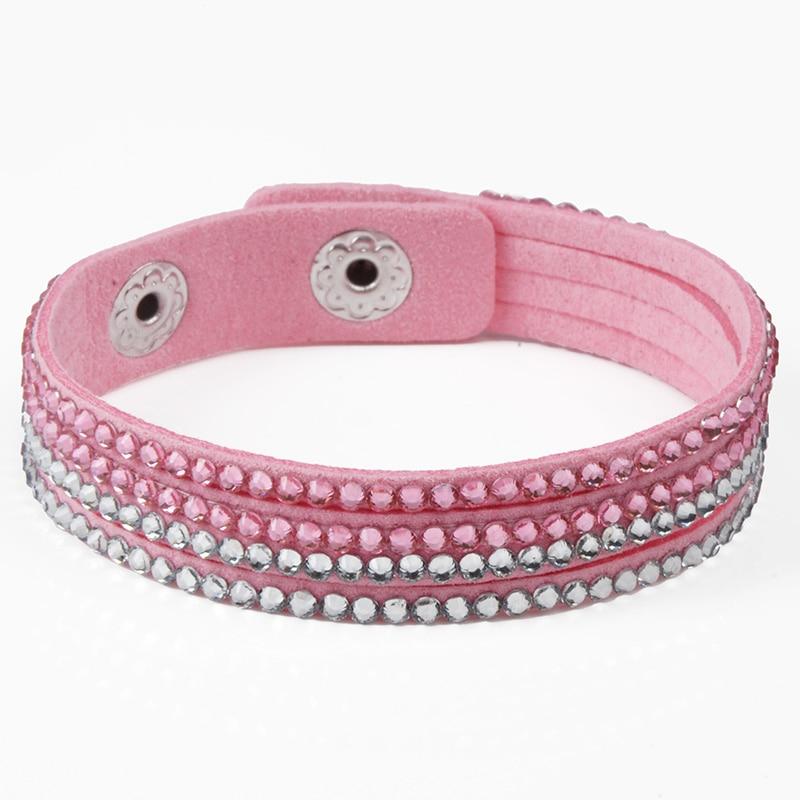 Chanfar 17CM 4 Layers Single Velvet Kids Bracelet with Resins