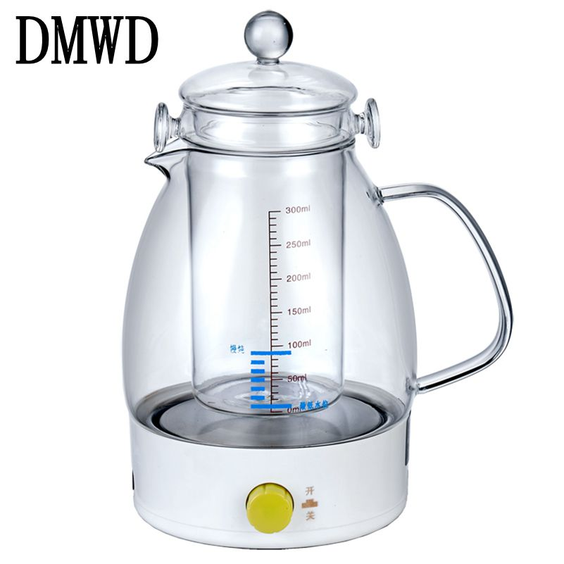 DMWD Electric kettle mini slow cooker Bird Nest stew pot hot water heater Multifunction Auto Power-Off Boiler glass liner teapot cukyi automatic electric slow cookers purple sand household pot high quality steam stew ceramic pot 4l capacity