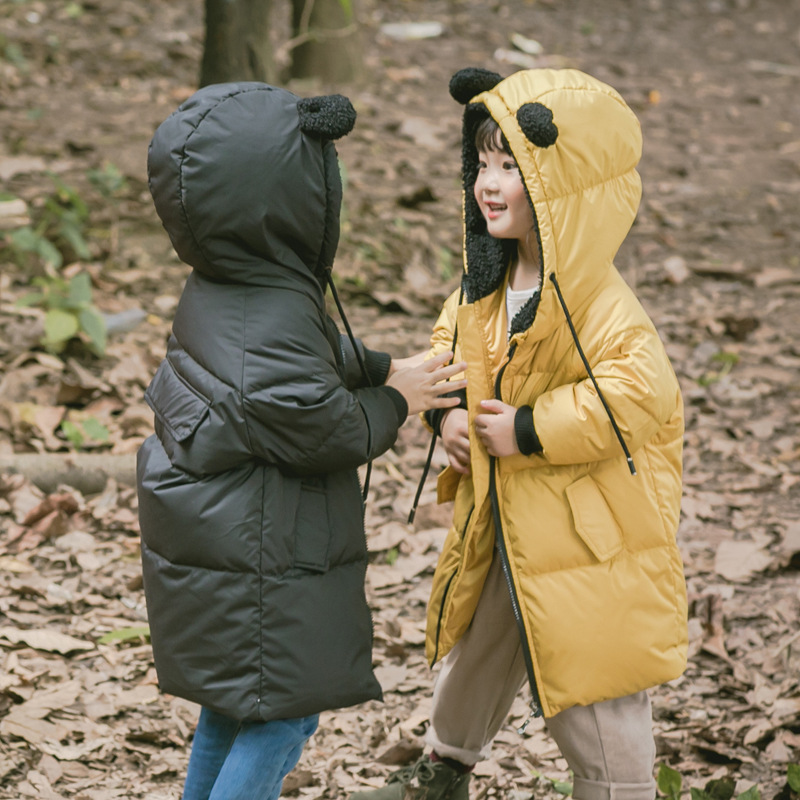 Kids Long Parkas for Girls Boys Fur Hooded Coat Winter Warm Down Jacket Children Outerwear Infants Thick Overcoat 4 6 9 10 12 babe под подгузник защитный 100 мл