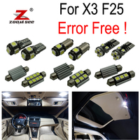 21pc X Canbus Error Free LED reading bulb Interior map dome roof Lights full Kit for BMW X3 F25 (2011 2017)
