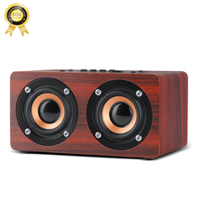 Wood mini Bluetooth speaker classic Portable Wireless speaker Home Theater Party Speaker Sound System stereo Music hifi bass 5