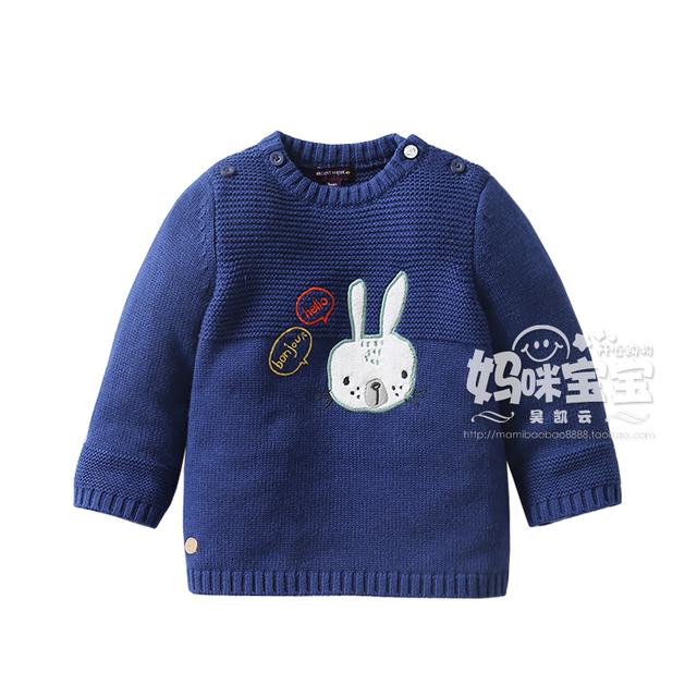 Baby girl sweater 2016 spring autumn new arrival baby round neck sweater kids 100% cotton sweater long-sleeve pullover tops