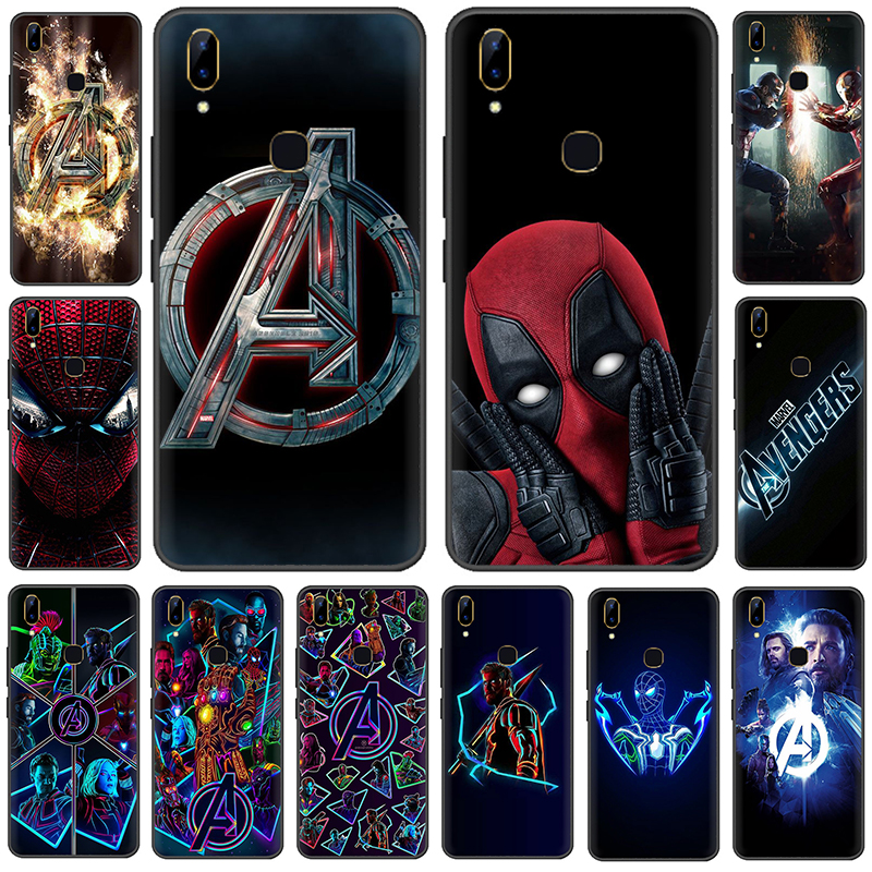 Marvel Superheroes The Avengers Silicone phone <font><b>case</b></font> for <font><b>VIVO</b></font> V15 V11 Pro V9 V7 V5 Y17 Y55s Y69 Y71 Y81s Y91C Y93 Y66 <font><b>X9s</b></font> image