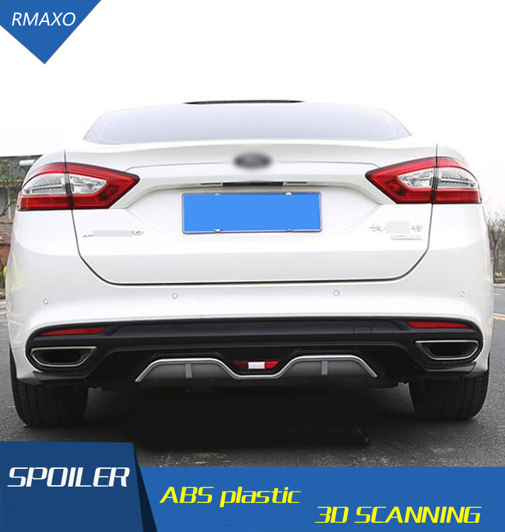 For Ford Mondeo Diffuser Bumpers Body kit spoiler 2013 2018 For Ford Mondeo 4C ABS Rear