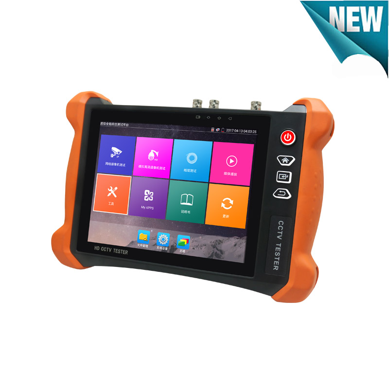 New IP tester Touch screen H.265 4K 8MP Camera tester IP AHD TVI CVI CVBS 5 in one CCTV Tester with Security camera