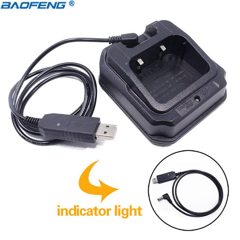 Baofeng UV-9R USB Base Batterie Chargeur Talkie Walkie Pour pofung UV-XR A-58 UV-9R Plus GT-3WP UV-5S Retevis RT6 UV9R UVXR