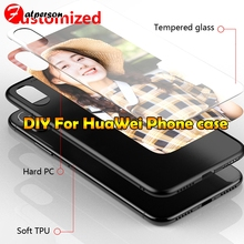 Customized Tempered Glass Phone Case For Huawei P20 30 Pro 1
