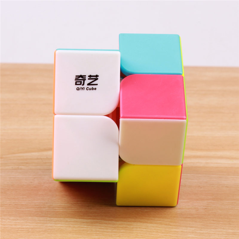 QIYI QIDI 2X2X2 MAGIC SPEED CUBE POCKET STICKERless 50 MM PUZZLE CUBE - ფაზლები - ფოტო 3