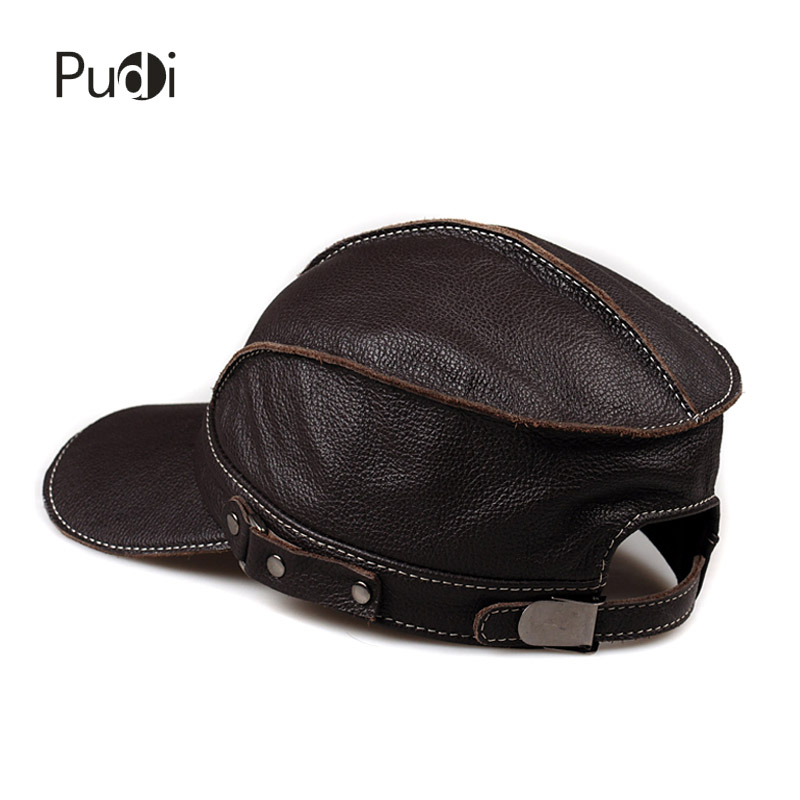 0526f4e8496 Pudi HL006 genuine leather men baseball cap hat brand new men s real leather  adult adjustable trucker hunting army hats caps-in Baseball Caps from  Apparel ...