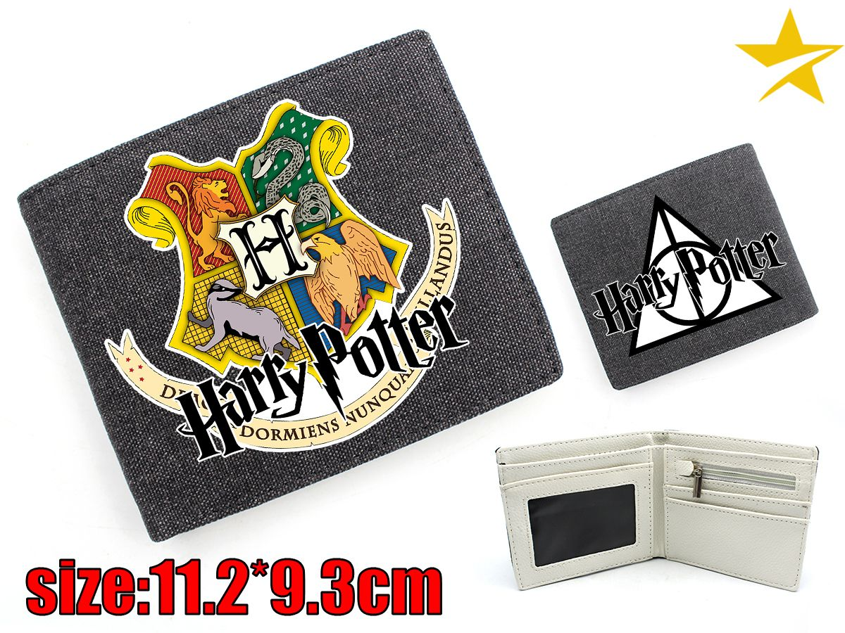 Giancomics Harri Potter Movie Canvas Wallet Cartoon Fashion Money Coin Convenient Pocket Card Cool Holder Otaku Economic Gift