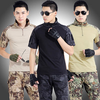 Men Camouflage Suit Sets Army Military Uniform Combat Jacket Pants CS Tactical Outdoors Training Camping Sports Sets