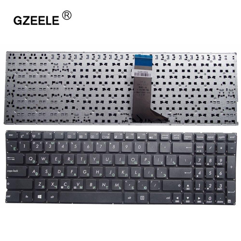 GZEELE RU NOIR NOUVEAU russe Clavier d'ordinateur portable pour ASUS A553 A553M A553MA D553M D553MA X503M X503MA R515M R515MA X554LA noir
