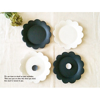 ceramic dinner plate food tray flower edge matte food plate kitchen dinnerware tools gift