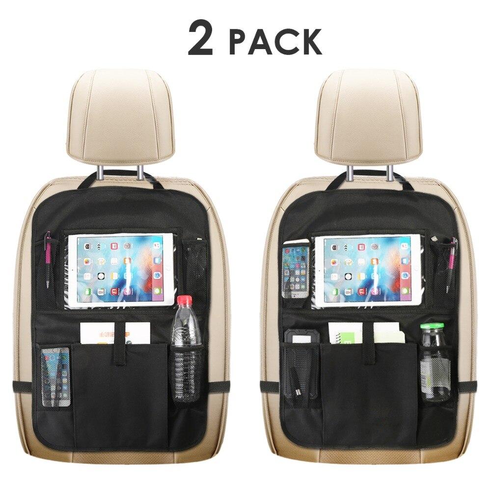 Leuk 2 Packs Kick Mat Auto Backseat Organizer Baby Kind Kinderen Speelgoed Auto Terug Van Seat Protector Met 1 Tissue Doos Houder 3 Opbergzakken