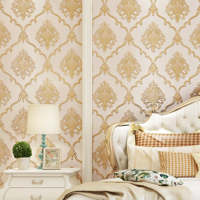 Designer Wallpaper Ideas Photos: 3d Vinyl Wallpaper PVC European Romantic Wallpaper Pattern