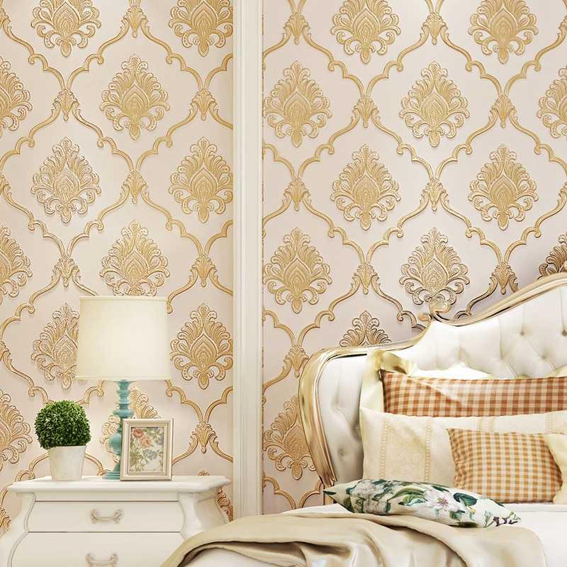 3d Vinyl Wallpaper Pvc European Romantic Wallpaper Pattern Flowers Non Woven Self Adhesive Wallpaper Designs Wall Coverings Wall