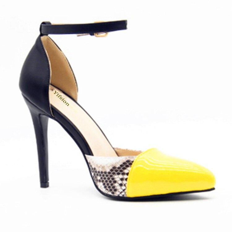 Black Hauts Mode Chaussures Pompes Femmes Noir Bout Yifsion 4 10 Partie De D0117 Taille Mariage Pointu 5 Nous Sexy Boucle Talons Sangle MzpSVU