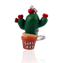1 Pcs Mini Simulation Plant Potted Cactus Pendant Key Chain Resin Cactus  Keyring Bag Accessories Gifts 337be63107c9
