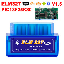 Super Mini Elm327 Bluetooth OBD2 V1.5 Elm 327 WIFI OBDII Car Diagnostic Tool Scanner Elm-327 OBD 2 Adapter Auto Diagnostic-Tool(China)