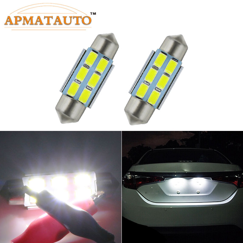 <font><b>2</b></font> x 36mm No Error License Number Plate Light <font><b>LED</b></font> Bulbs C5W White For <font><b>RENAULT</b></font> Megane II <font><b>Renault</b></font>, <font><b>Scenic</b></font>, Fluence, Laguna ETC image