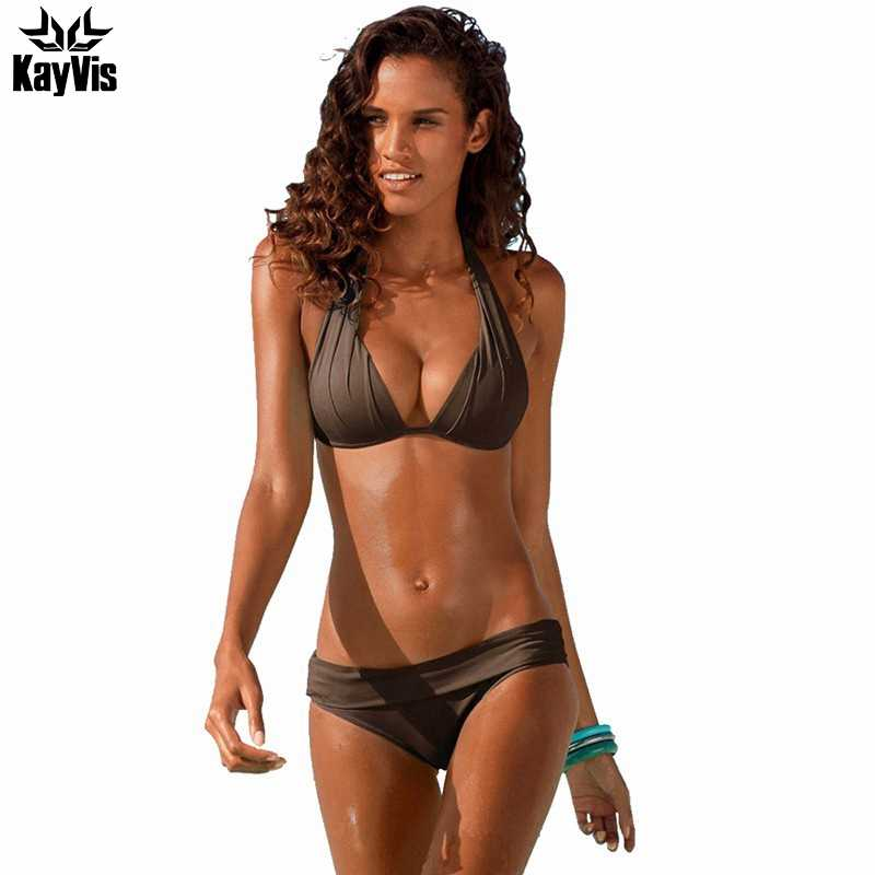 cd5c5909fe ... KayVis Sexy Bikini 2019 Women Swimsuit Push Up Bikini Set Beach Wear  Retro Vintage Bathing Suits ...
