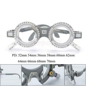 Image 3 - 2 pces universal ajustável lente de avaliação óptica quadro óculos optometry optician teste óptico lentes de teste quadro 62mm 58mm
