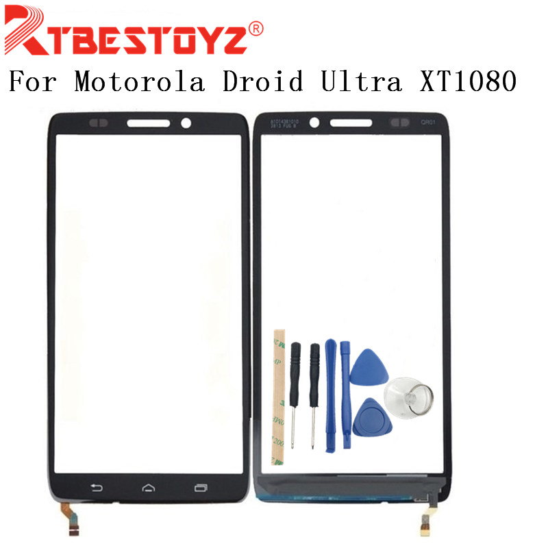 RTBESTOYZ  5.0 Inch Front Outer Screen Glass Lens For Motorola Droid Ultra XT1080 XT1080Maxx Touch Screen/mirror + Tools