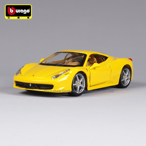 Bburago 1:24 Ferrari 458Y collection manufacturer authorized simulation alloy car model crafts decoration collection toy tools
