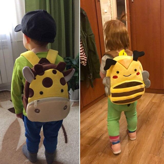 2020 3D Cartoon Animal Plush Children Backpack Kindergarten 5