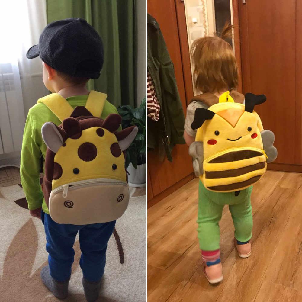 2020 3D Cartoon Plüsch Kinder Rucksäcke kindergarten Schul Tier Kinder Rucksack Kinder Schule Taschen Mädchen Jungen Rucksäcke
