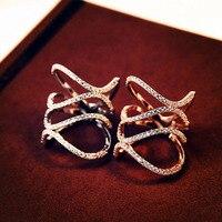 Мода Очаровательная двойные волны ювелирные изделия кольца с микро кубического циркония anillos Мода Twist открытые спираль кольцо для женские