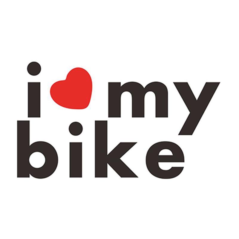 6 3 3 6cm 2pcs I Love My Bike Words Decal Funny Vinyl Car