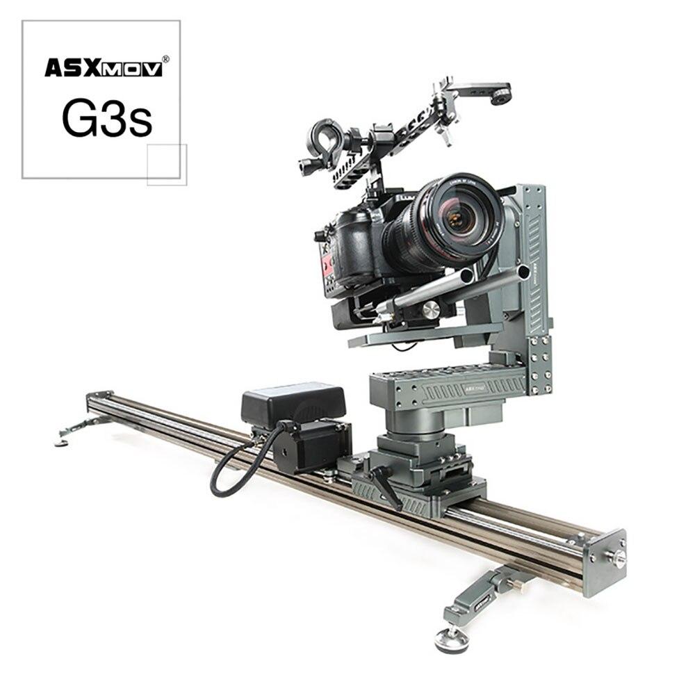 ASXMOV G3S высокая скорость timelapse Видео система стабилизации поворотник железнодорожных путей ползунок механизированная камера Долли слайдер