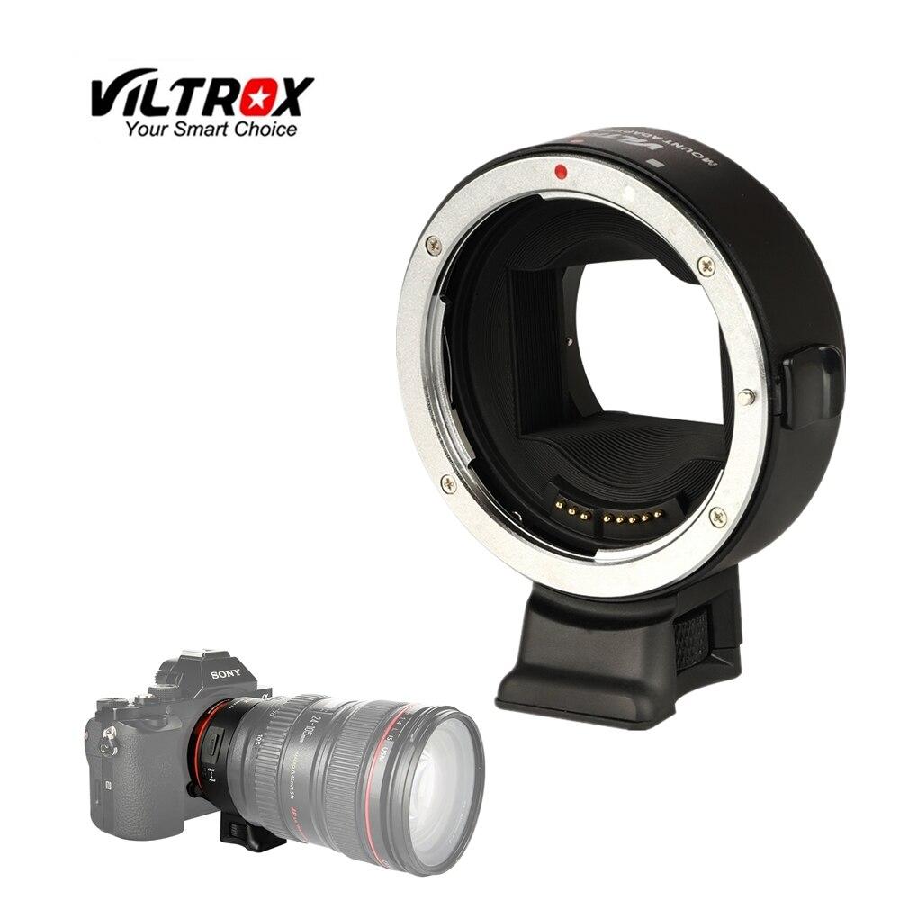 Viltrox EF-NEX IV lente de enfoque automático AF anillo adaptador de tubo para Canon EF EF-S lente a Sony E montaje A7RIII a7S II A9 A6500 NEX7 A6300