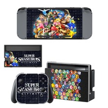 Nintend Switch Vinyl Skins Sticker For Nintendo Console and Controller Skin Set - Super Smash Bros