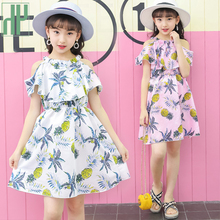 Children dress chiffon summer Party princess off shoulder dress girls Costume kids frock dress for teenage 4 10 to 12 years