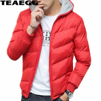 TEAEGG Mens Winter Jackets Casaco Masculino Inverno Winter Jacket Men Coat Cotton Padded Blouson Homme Hiver Plus Size AL500