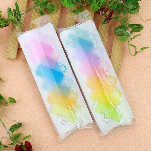 Abook nuevos cuadernos Clip de la nota creativa papelería fácil de colores videos etiqueta papeles Clip carpeta etiquetas ocasionales hechos a mano bricolaje