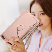 Fashion Women Leather Purse Plaid Wallets Long Ladies Colorful Wallet Clutch 10 Card Holder Coin Bag Female Double Zipper Wallet цена в Москве и Питере