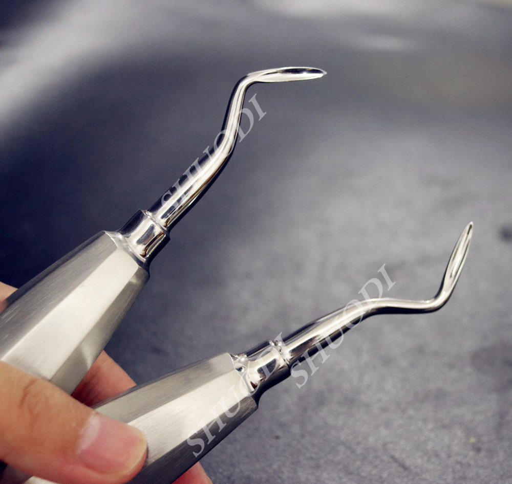 Dental Minimally Invasive Tooth Extraction Toothdental Instruments Curved Right Left With Shape Tips