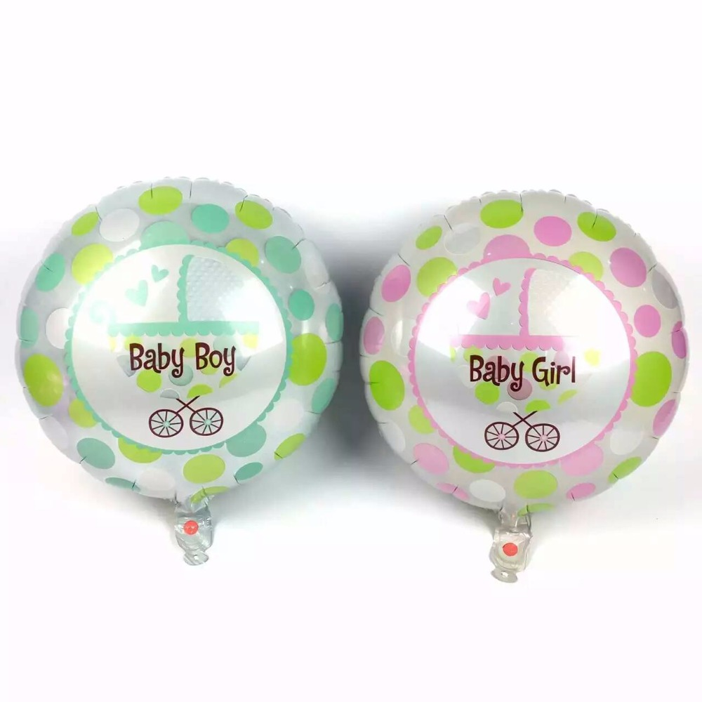 50pcs/lot Stroller balloon round dot balloon  45*45CM baby birthday balloons dec