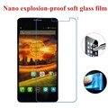 Nano a prueba de explosiones de vidrio suave protector claro de la pantalla la película protectora para alcatel one touch idol x + 6043 6043a 6043d