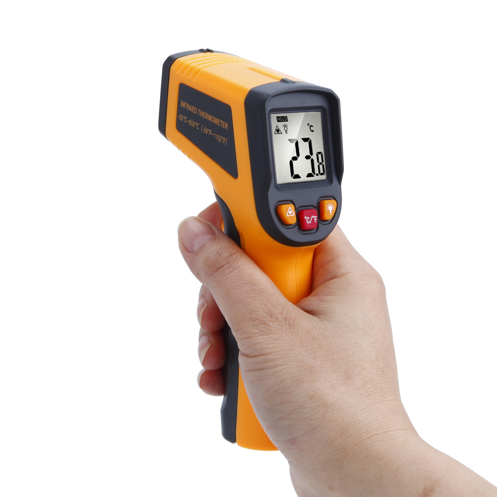 RICHMETERS 600 C Digital laser Infrared Thermometer Temperature Gun Instrument Pyrometer