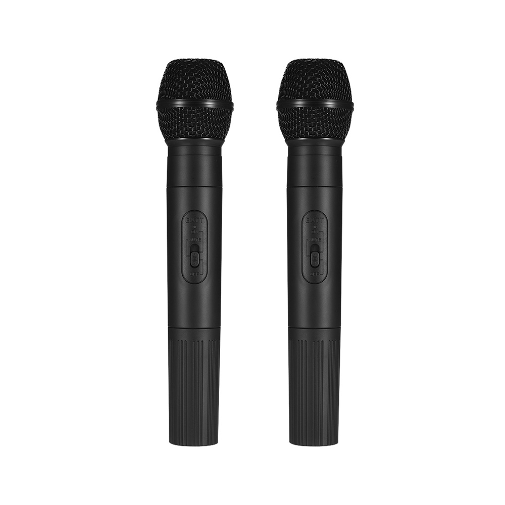 Professional Live Equipment Wireless Handheld Microphone System with 2 Cordless Mics for Karaoke