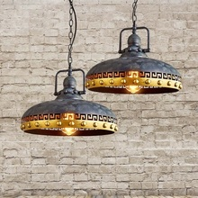 цена на Loft Style Iron Droplight Industrial Wind Vintage Pendant Light Fixtures For Dining Room Hanging Lamp Lamparas Colgantes