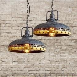 Stile Loft Droplight Ferro Vento Industriale Luce Del Pendente Dell'annata Lampade Per Sala da pranzo Lampada A Sospensione Lamparas Colgantes