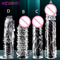 4 Types Penis Extender Time Delay Ejaculation Penis Extender Sleeve Penis Enlargement Enhancer Adult Erotic Sex Products for Men