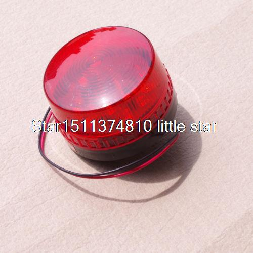 (1) 12VDC RED LED Beacon Warning Signal Light Lamp Spiral Fixed