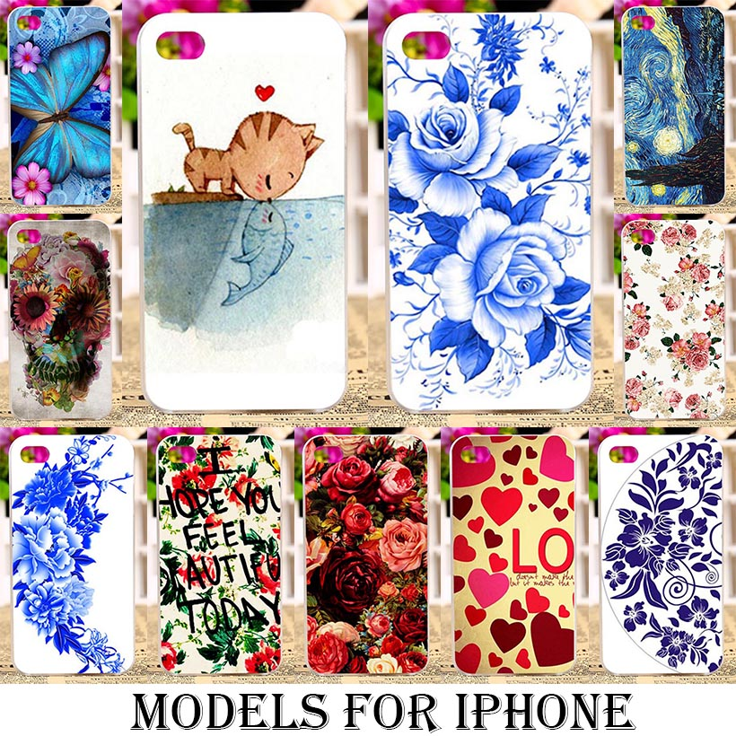 Phone Case Cover for Apple iphone 4 4s 5 5s 5 se 6 6s 6s 6s plus Cases bags Rose Peony Flowers Background Shell soft tpu Plastic